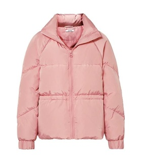 Ganni GANNI - Whitman Quilted Shell Down Jacket - Baby pink White, Pink