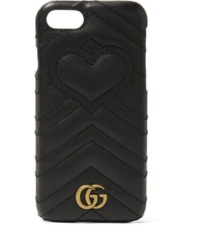 Gucci Gucci - Gg Marmont Quilted Leather Iphone 7 Case - Black Black, White