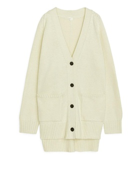Arket Oversized Wool Cardigan - Yellow Yellow