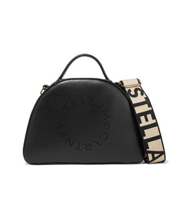 Stella McCartney Stella McCartney - Perforated Faux Leather Shoulder Bag - Black Black