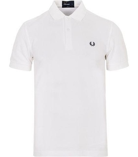 Fred Perry Fred Perry Slim Fit Plain Polo White White