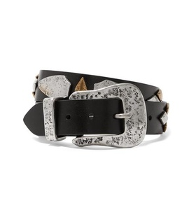 Isabel Marant Isabel Marant - Derin Embellished Leather Belt - Black Black