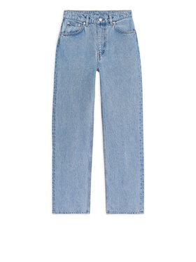 Arket STRAIGHT Cropped Jeans - Blue Blue