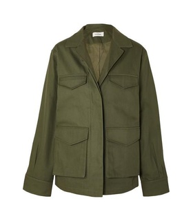 Totême Totême - Avignon Cotton-twill Jacket - Army green Green