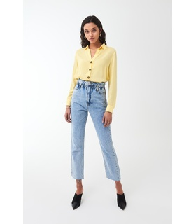 Gina Tricot Wendy shirt White, Yellow