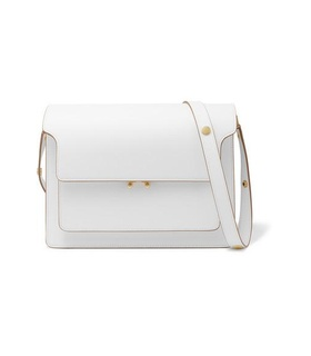 Marni Marni - Trunk Large Textured-leather Shoulder Bag - Cream White, Beige