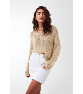 Gina Tricot Wilma knitted sweater Beige