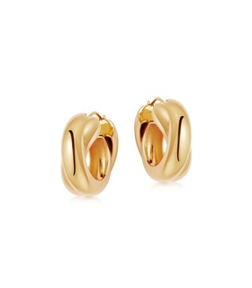 missoma Lucy Williams Gold Chunky Entwine Hoops Gold