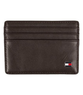 Tommy Hilfiger Tommy Hilfiger Eton CC Leather Cardholder Brown White, Brown