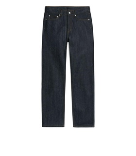 Arket Loose Selvedge Jeans - Blue White, Blue