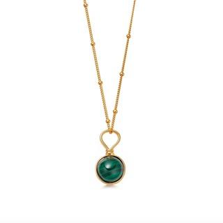 missoma Malachite Mini Sphere Pendant Necklace Gold