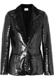 Cami NYC Cami NYC - The Lennon Velvet-trimmed Sequined Crepe Blazer - Black Black