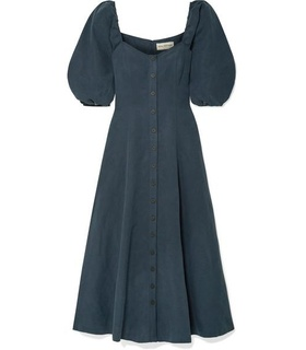Mara Hoffman Mara Hoffman - + Net Sustain Mika Tencel And Linen-blend Maxi Dress - Navy Blue