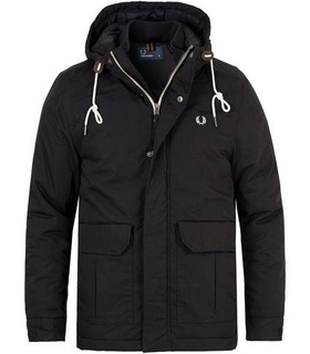 Fred Perry Fred Perry Stockport Jacket Black Black, White