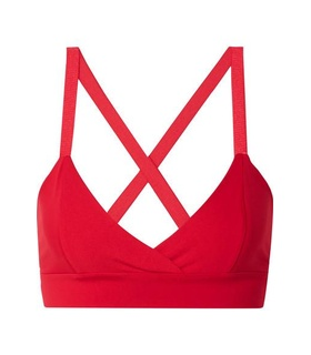Live The Process Live The Process - V Stretch-supplex Bra - Red White, Red