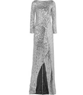 Roland Mouret Roland Mouret - Sequined Tulle Gown - Silver White, Silver