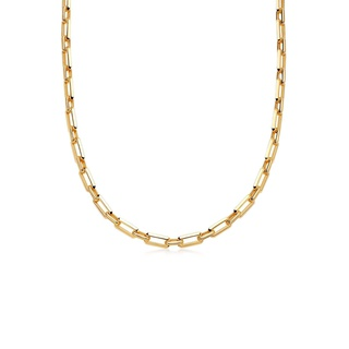 missoma Gold Bevelled Chain Necklace Gold