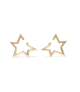 Jennifer Fisher Jennifer Fisher - Baby Classic Star Gold-plated Earrings - one size Gold