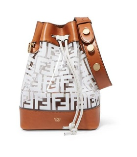 Fendi Fendi - Mon Trésor Medium Printed Pvc And Leather Bucket Bag - White White