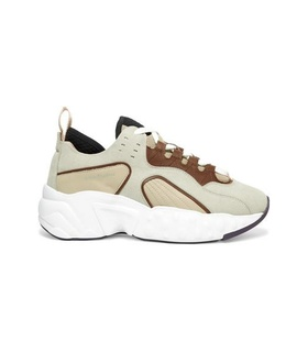 Acne Acne Studios - Manhattan Leather, Suede And Mesh Sneakers - Beige White, Beige