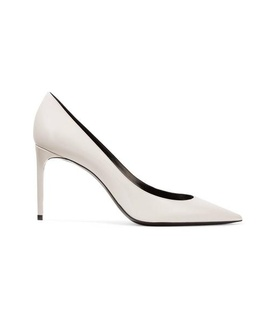Saint Laurent SAINT LAURENT - Zoe Patent-leather Pumps - Ivory White