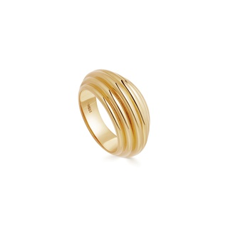 missoma Lucy Williams Gold Large Ridge Ring Gold
