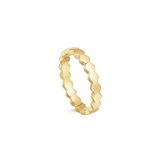 missoma Gold Rhea Convex Ring Gold