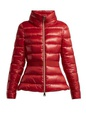 Herno Herno - Contrast Panel Quilted Down Jacket - Womens - Red White, Red