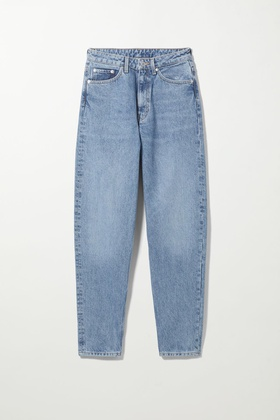 Weekday Lash Extra High Mom Jeans - Blue Blue