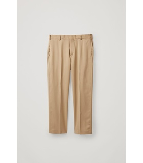 COS SLIM JETTED-POCKET TROUSERS Beige