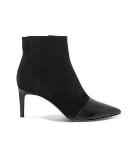 Rag & Bone rag & bone - Beha Paneled Leather And Suede Ankle Boots - Black Black, White