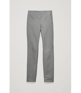 COS SKINNY-FIT LEGGING TROUSERS Grey, White