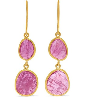 Pippa Small Pippa Small - 18-karat Gold Ruby Earrings - one size White, Gold