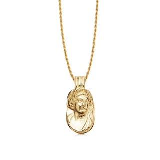 missoma Lucy Williams Large Cameo Necklace Gold